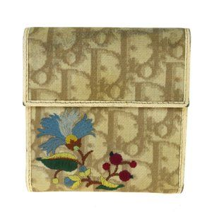 Christian Dior Trotter Pattern Trifold Wallet